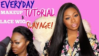 getlinkyoutube.com-Slaying my first Lace frontal wig (SWAYHAIR)