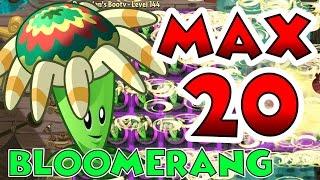 getlinkyoutube.com-Plants vs Zombies 2 Max Level UP - Bloomerang @ Level 20 Maximum Level