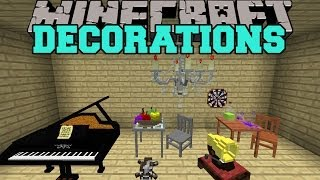 getlinkyoutube.com-Minecraft: DECORATIONS (TOYS, FURNITURE, MUSICAL INSTRUMENTS, & MORE!) Mod Showcase