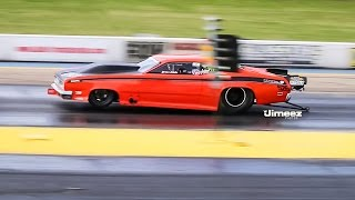 getlinkyoutube.com-TWIN TURBO 526 HEMI '70 DUSTER RUNS 3.91@194.69MPH!
