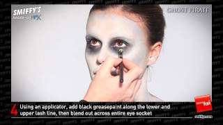 getlinkyoutube.com-Ghost Pirate Face Painting Make-up Tutorial