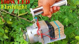 getlinkyoutube.com-DIY 100W LED flashlight. ทำไฟฉาย LED 100W