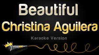 getlinkyoutube.com-Christina Aguilera - Beautiful (Karaoke Version)