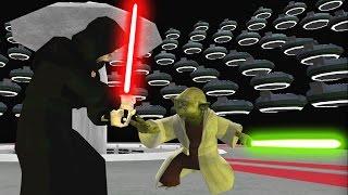 Star Wars Battlefront 2 Mods - Coruscant Modern Warfare: Yoda vs Palpatine Finale