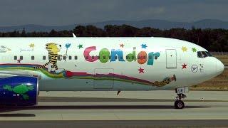 getlinkyoutube.com-4 Condor Boeings landing at Frankfurt | 767, 757 | Janosch Livery | FRA | 18.07.2015