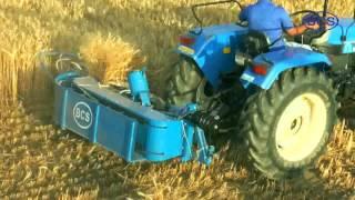 getlinkyoutube.com-BCS Tractor Mounted Reaper Binder