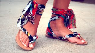 getlinkyoutube.com-Quickie How-to Gladiator Sandals