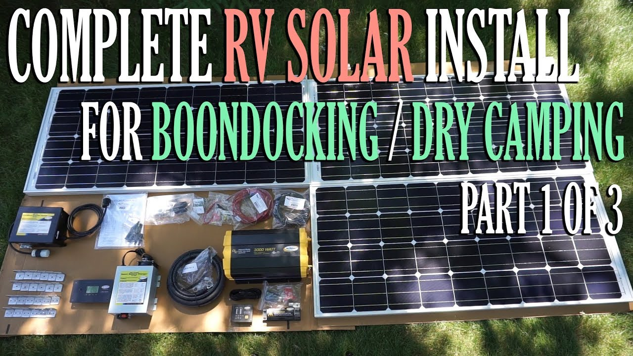 Solar Install For Boondocking / Dry Camping