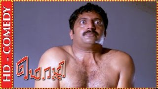 getlinkyoutube.com-Brahmanandam finds Prakash Raj naked | Mozhi Comedy Scene