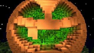 getlinkyoutube.com-Minecraft vs Zombies | GIGA JACK O' LANTERN (Halloween!) | PvZ  Land