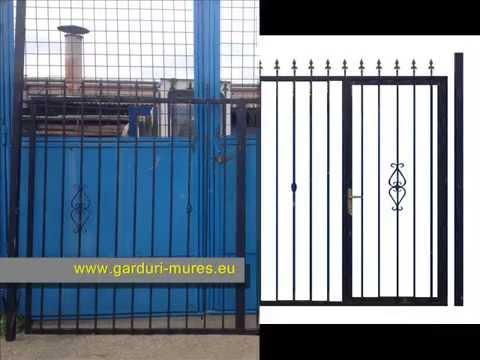 gard fier , gard fier Mures , fier forjat ,  gard fier prefabricat , poarta fier antichizat
