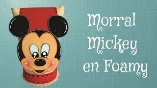getlinkyoutube.com-DIY Morral Dulcero Mickey Mouse en Foami, Goma Eva, Microporoso, Easy Crafts