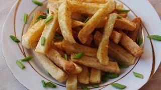 getlinkyoutube.com-Новогодние рецепты Как сделать картофель ФРИ дома