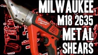 getlinkyoutube.com-Milwaukee 2635 M18 Metal Cutting Shears (18 Gauge)