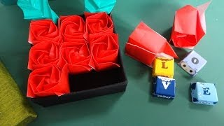 "getlinkyoutube.com-なんて素敵!!「バラのケース」折り紙Great!!""Rose case""Origami"