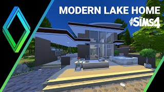 The Sims 4 House Building -  Modern Lake Cabin