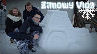 getlinkyoutube.com-Lepimy ciągnik ze śniegu, Wiata w Mokrzynie, ZIMA 2017 ☆ Vlog - Go Pro Hero ㋡ MafiaSolec & Bronczek