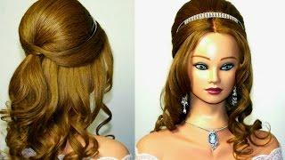 getlinkyoutube.com-Wedding prom hairstyle for medium  long hair.