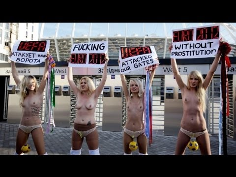 FEMEN protests against the UEFA Euro 2012 - no comment