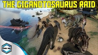 getlinkyoutube.com-Ark Survival Evolved The Giganotosaurus Raid 3 of THEM