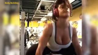 getlinkyoutube.com-Celeste Kaitlyn Bonin Bodybuilding Workout  WWE Diva Fitness  Skills