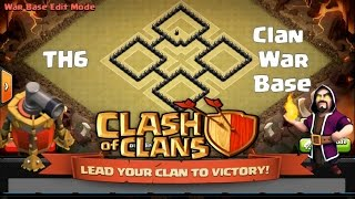 getlinkyoutube.com-Clash Of Clans l Best TH6 Clan War Base With Air Sweeper