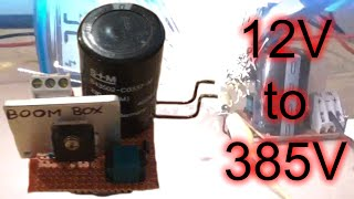 getlinkyoutube.com-555 Mega Boost Converter. 12V to 385V DC. Huge sparks.