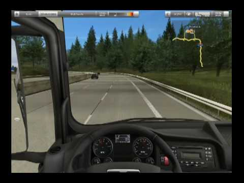 German Truck Simulator - gameplay