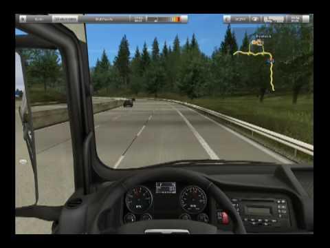 German Truck Simulator - gameplay