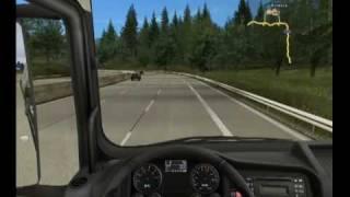 getlinkyoutube.com-German Truck Simulator - gameplay