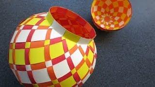 getlinkyoutube.com-weaving - papercraft - jarbox - tutorial - dutchpapergirl