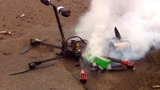getlinkyoutube.com-Drone crashes and burns during delivery of asparagus to restaurant