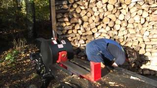 getlinkyoutube.com-super snelle houtklover, wood splitter, turbo klover, kloofmachine, TE KOOP
