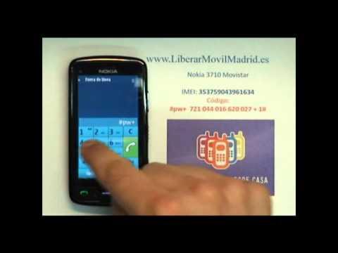 Liberar Nokia C6 Movistar por Código IMEI - www.LiberarMovilMadrid.es