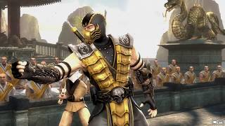 getlinkyoutube.com-Mortal Kombat IX Scorpion (Costume 2) Performs All Character Intros PC 60FPS 1080p