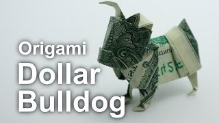 getlinkyoutube.com-Origami Dollar Bulldog (Janessa Munt)