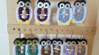 getlinkyoutube.com-Zarcillos, pendientes o aretes en forma de buho en anillas de latas