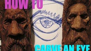 getlinkyoutube.com-Eye Tutorial, How to carve eyes on a wood spirit