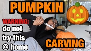 getlinkyoutube.com-HOW TO ABSOLUTELY CARVE YOUR PUMPKIN THE WRONG WAY 2!   AlliCattt