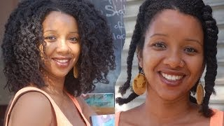 getlinkyoutube.com-Twist out Two weeks after using the Hair Cream and the Silky Shea Hair butter