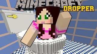 getlinkyoutube.com-Minecraft: DROPPING INTO A TOILET! - TALLCRAFT DROPPER - Custom Map [2]
