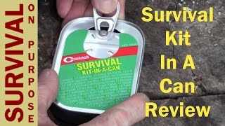 getlinkyoutube.com-Survival Kit In A Can Review - Survival Gear