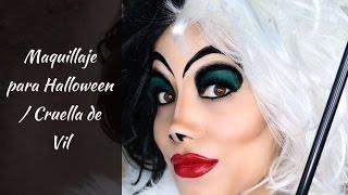 getlinkyoutube.com-Maquillaje para halloween / Cruella de Vil
