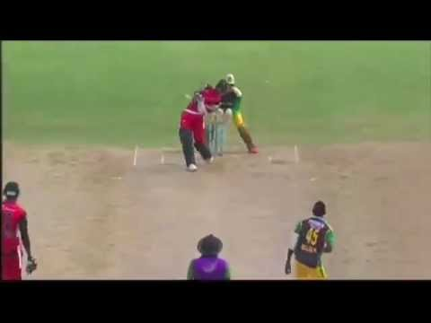 Nicolas Pooran Hits a Massive Six in CPL 2013