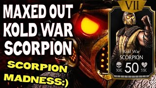 getlinkyoutube.com-Kold War Scorpion MAXED OUT in MKX Mobile 1.8. All stats and moves!