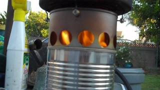 getlinkyoutube.com-Bean Can Wood-Gas Stove