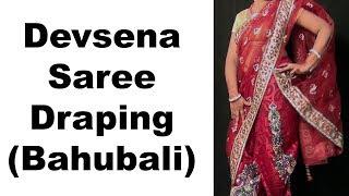 Devsena Saree Drape in Bahubali 2