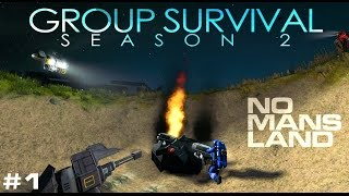 getlinkyoutube.com-NO MAN'S LAND - Space Engineers 'Group Survival' Story (S2E1)