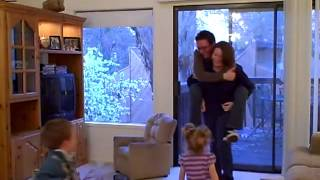 getlinkyoutube.com-Daddy gets a piggy back ride from Mommy
