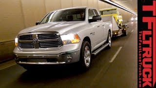 getlinkyoutube.com-2015 Ram 1500 EcoDiesel: Ike Gauntlet Extreme Towing Test. Fully Loaded.
